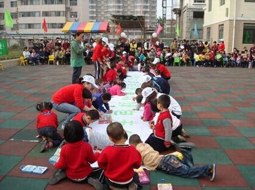 山东潍坊红旗幼儿园大型环保公益活动
