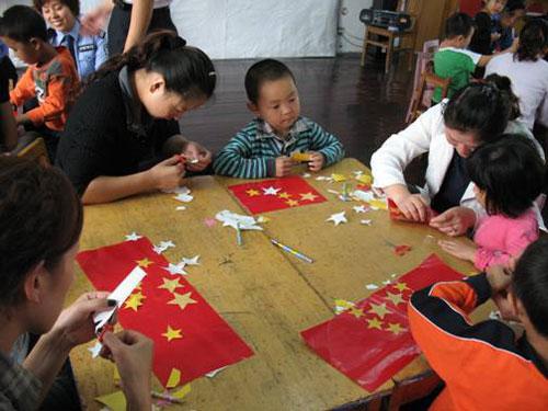 山东运河监狱幼儿园庆国庆主题活动
