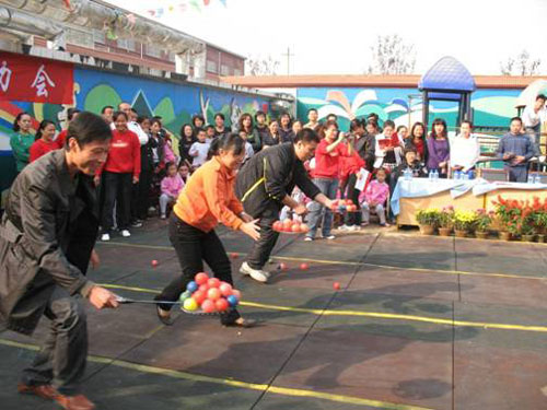 山东运河监狱幼儿园举办秋季全园亲子运动会