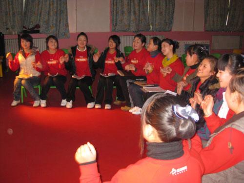 红缨张靖雯老师延安育英幼儿园教学培训