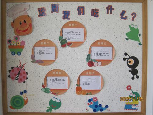 幼儿园食谱公告栏