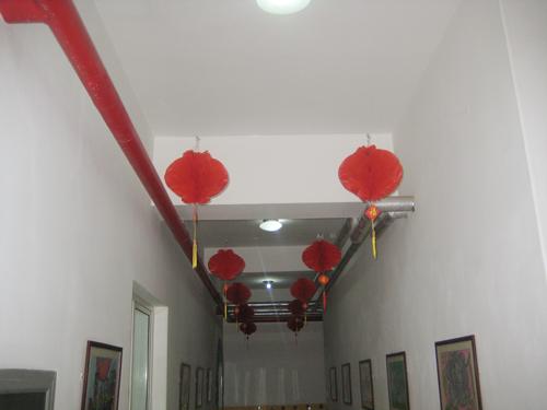 幼儿园新年布置-大红灯笼高高挂