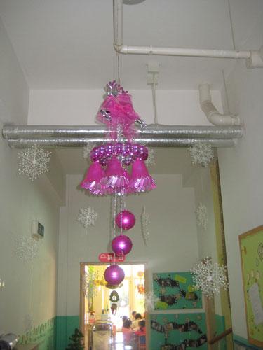 幼儿园圣诞节走廊吊饰