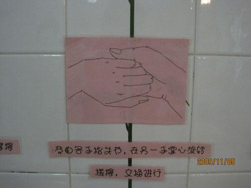 幼儿园卫生间-洗手的步骤