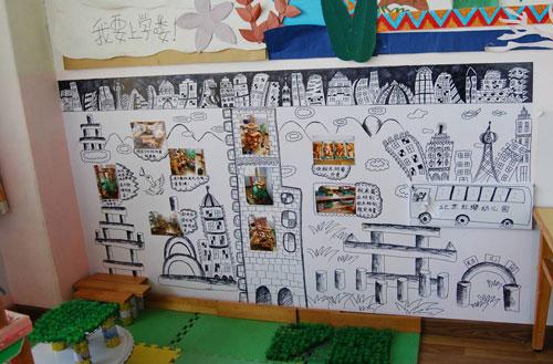 幼儿园环境布置图片:我要上学咯 幼儿园设计;; 区角布置-建构区图片