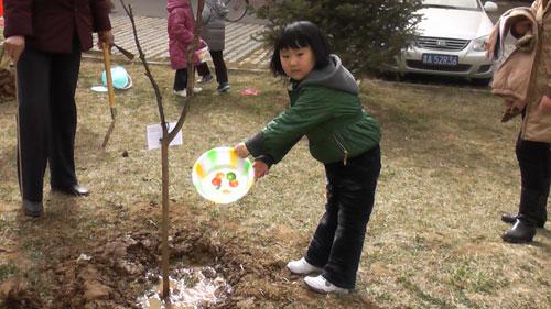 济南槐荫区智慧树幼儿园植树节主题活动