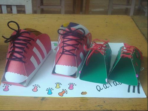幼儿园手工制作鞋子图片展示_幼儿园手工制作鞋子相关图片下载