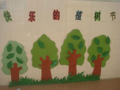 幼儿园植树节活动_幼儿园墙面布置图片植树节活动图片幼儿园墙