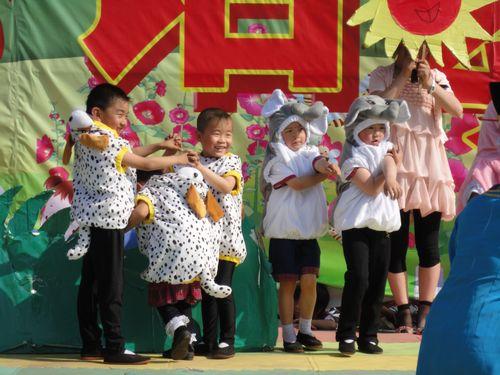 山西柳林县心语幼儿园举行庆六一活动