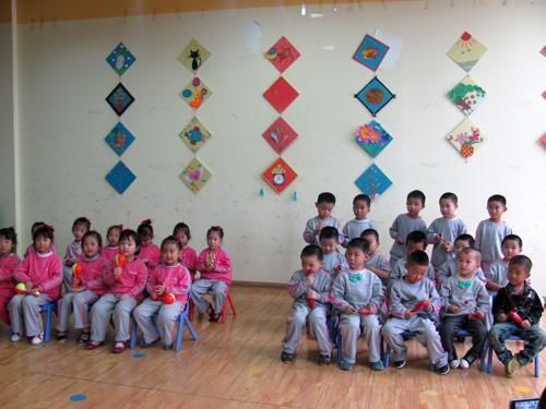 河南南阳起跑线幼儿园打击乐课程评比活动