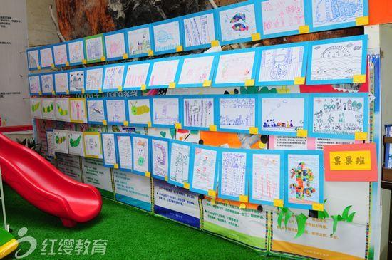 湖北利川红缨幼儿园举办首届幼儿美术画展