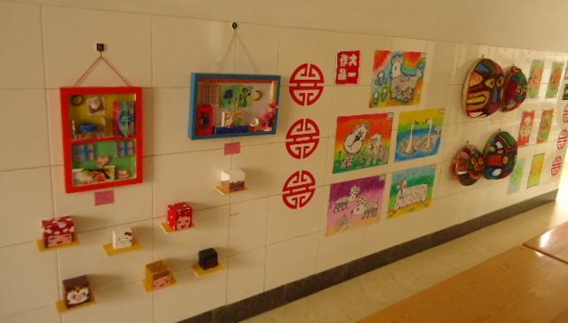 幼儿园楼道布置:幼儿作品展1