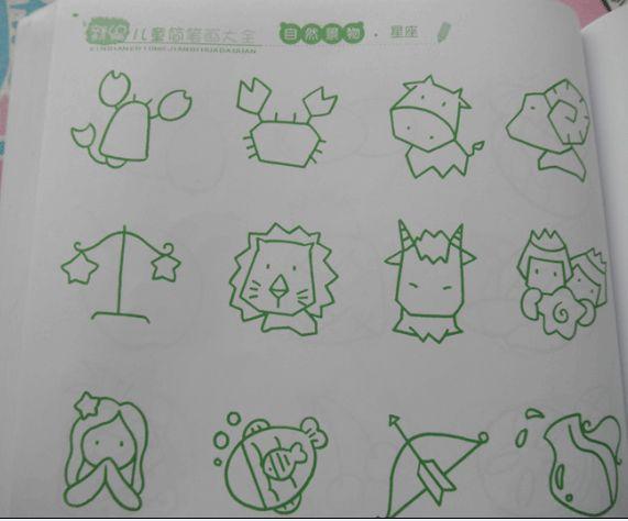 幼儿简笔画:十二星座 - 红缨教育_做中国幼儿园连锁的