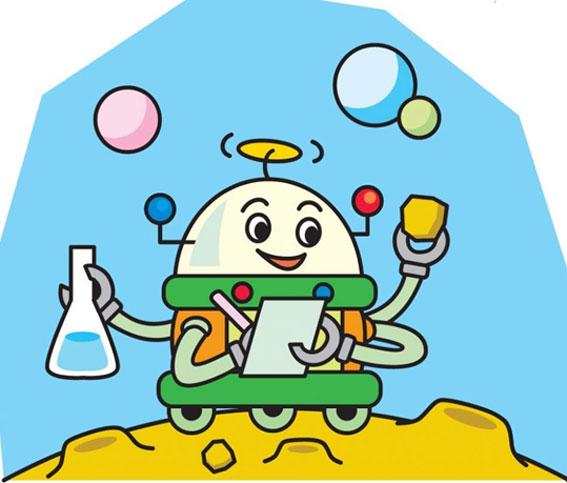 幼儿园宇宙与科技卡通图:机器人卡通图片