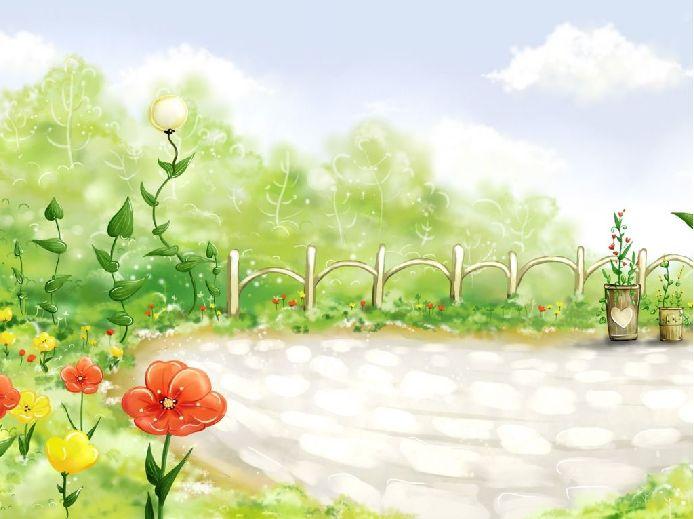 幼儿风景画:春天的色彩