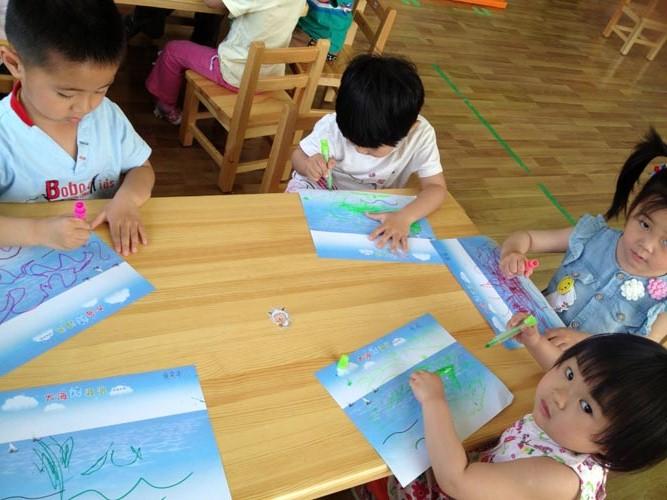 我们的美术课 - 红缨教育_做中国幼儿园连锁经营的