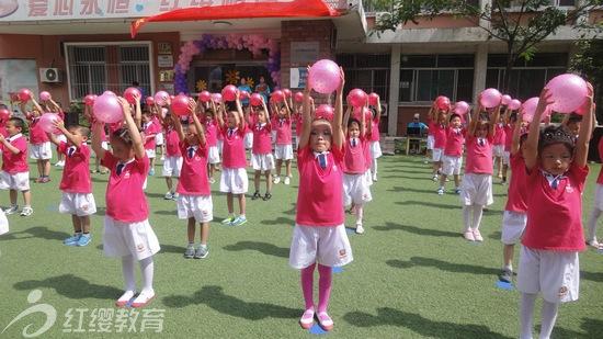 山东寿光红缨爱心双语幼儿园举办六一亲子运动会