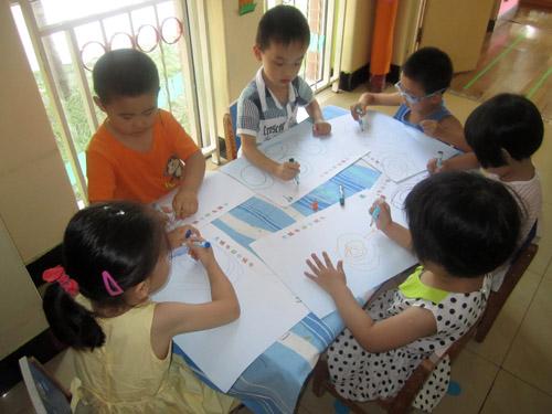 线条画 - 红缨教育_做中国幼儿园连锁经营的领导者
