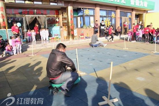 河北任丘红缨金月亮幼儿园举办第五届冬季亲子运动会