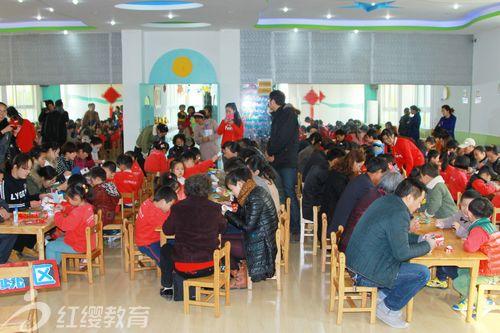 江苏盐城红缨金水湾幼儿园举办亲子手工比赛活动
