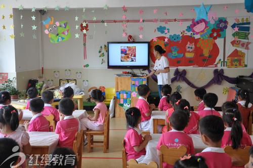 山东烟台红缨幼儿园举行庆中秋活动