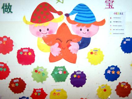 幼儿园红花栏布置展示_设计图分享