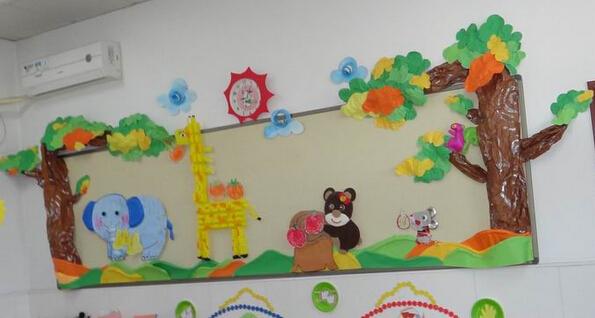 幼儿园环境布置:墙面布置——动物之家