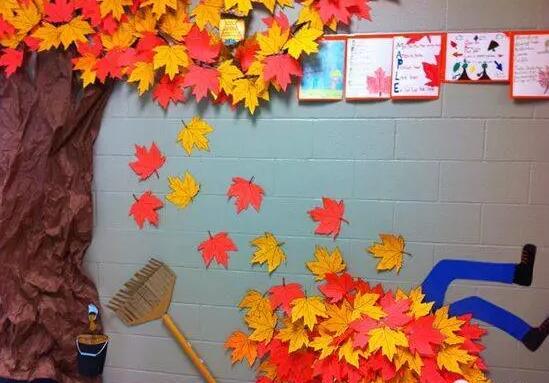 幼儿园秋天主题墙环创图片 -环创素材