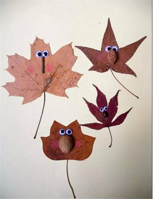 【手工】树叶创意绘画