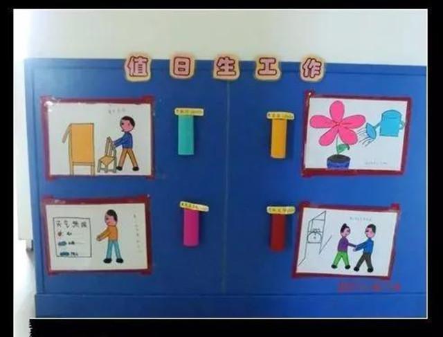 幼儿园值日墙设计图片大全