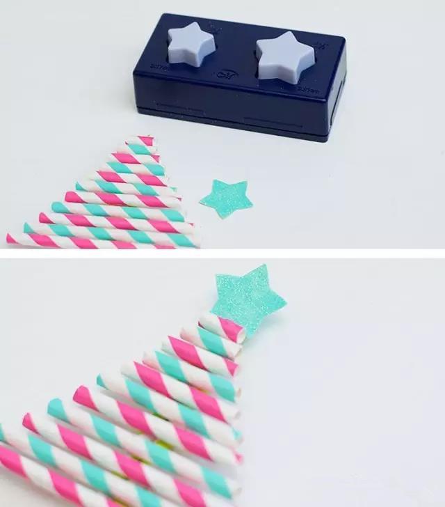 可以添加丝带装饰圣诞树哦