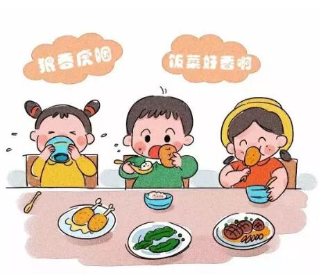 幼儿整理餐具卡通图片