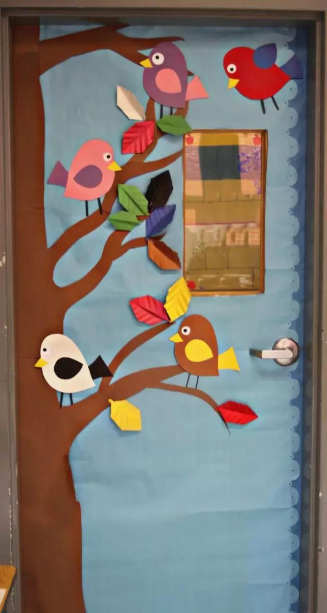 【环创】幼儿园春季【教室门】装饰