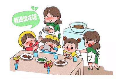 幼儿园排队喝水卡通图图片