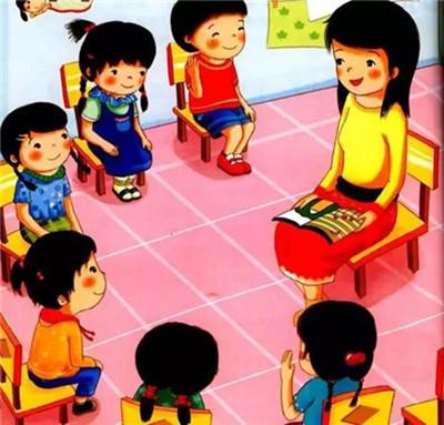 老师孩子在一起简笔画