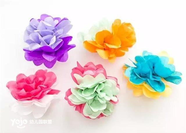 【手工】皱纹纸手捧花