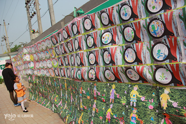 北京yojo河北衡水康乐幼儿园举办首届创意美术活动