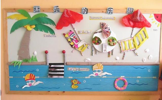 幼儿墙饰设计图片