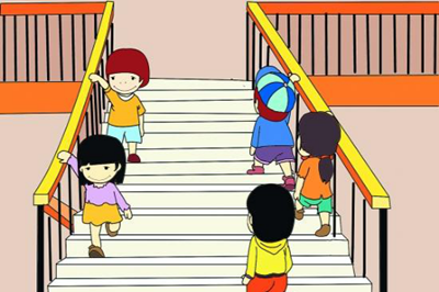 幼儿系鞋带步骤图分开
