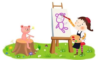 儿童艺术字作品手绘
