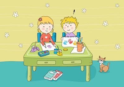 """如:画""""动物园"""",对能力强的幼儿要求多画几种动物,并画出动物的不同"""