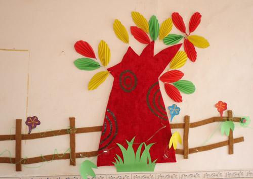 江苏盐城新双丰幼儿园环境布置与幼儿作品展