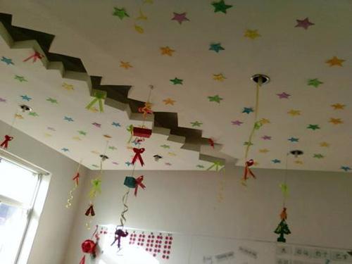 山东寿光爱心幼儿园圣诞节环境布置展示